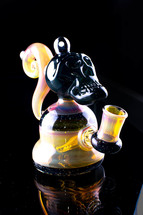 Avalon Glass Crushed Opal Skull Mini-rig with Banger Hanger